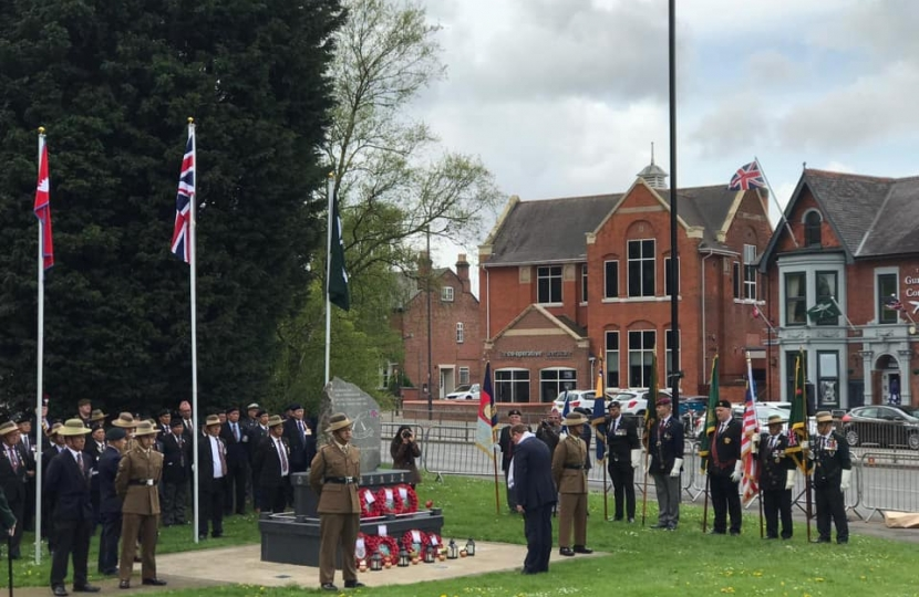 Paying respects to the Gurkhas