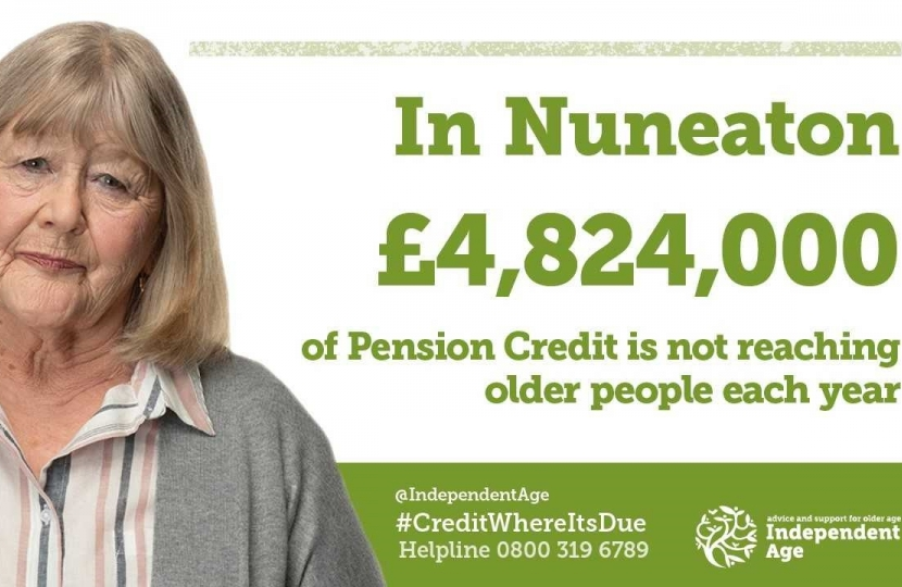 In Nuneaton £4,824,000 in Pension Credit is not reaching older people