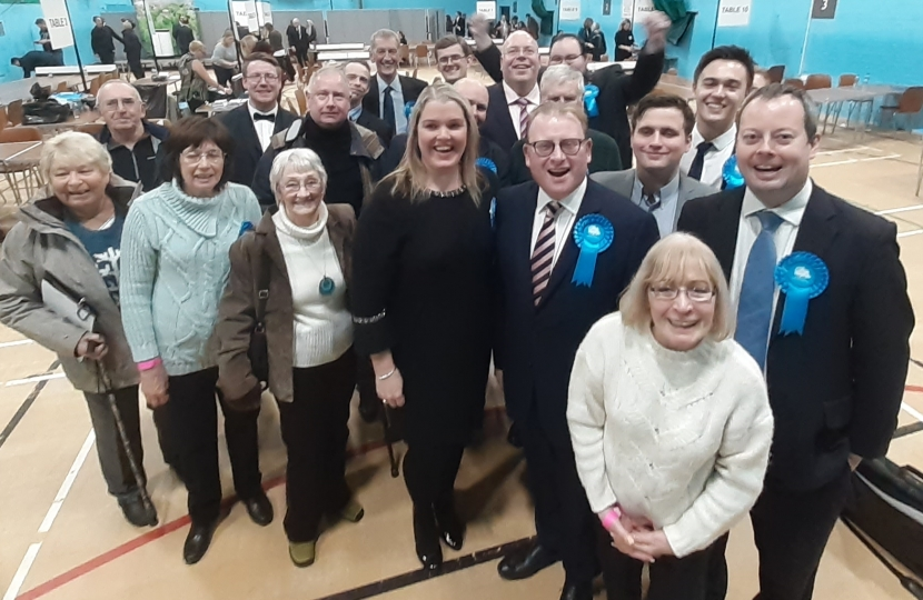 The team at the Count celebrating victory