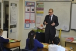 Marcus Jones MP at local primary school